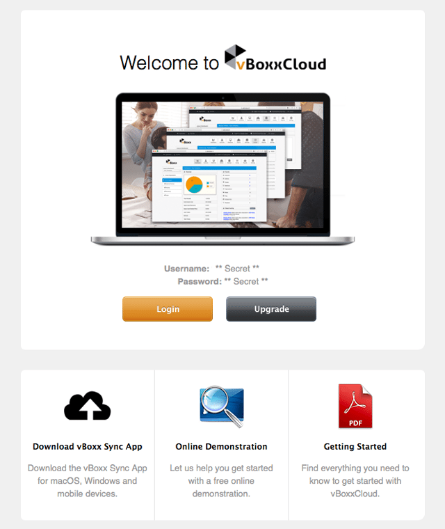 welcome to vboxxcloud email - vBoxxCloud