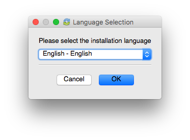 language selection - vBoxx sync tool installation