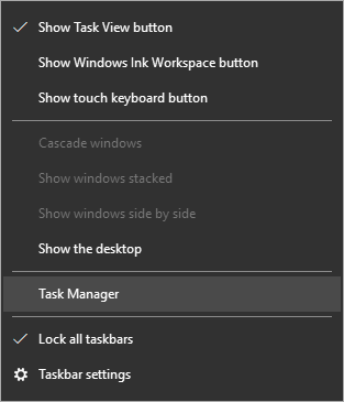 task manager windows - Windows