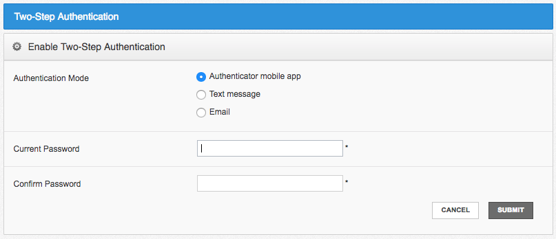 choose authentication methods