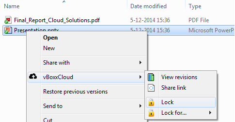 lock file on - vBoxxCloud