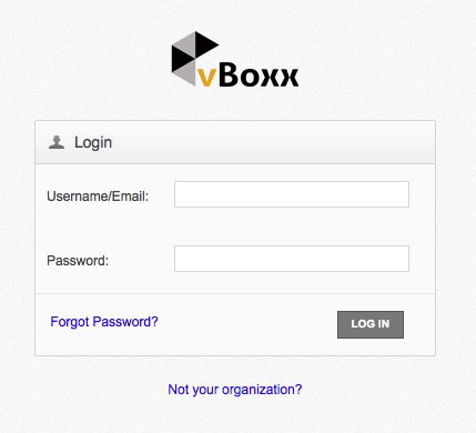 web portal login - vBoxxCloud