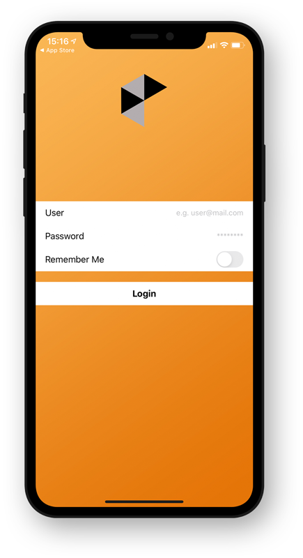 vboxxcloud app login screen - vBoxxCloud