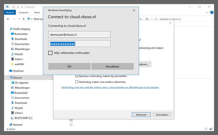 webDAV windows - vBoxxCloud