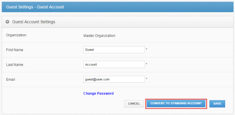 convert guest accounts to standard account - vBoxxCloud
