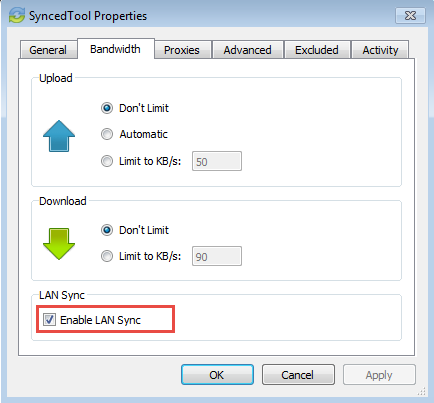 enable lan sync - vBoxxCloud