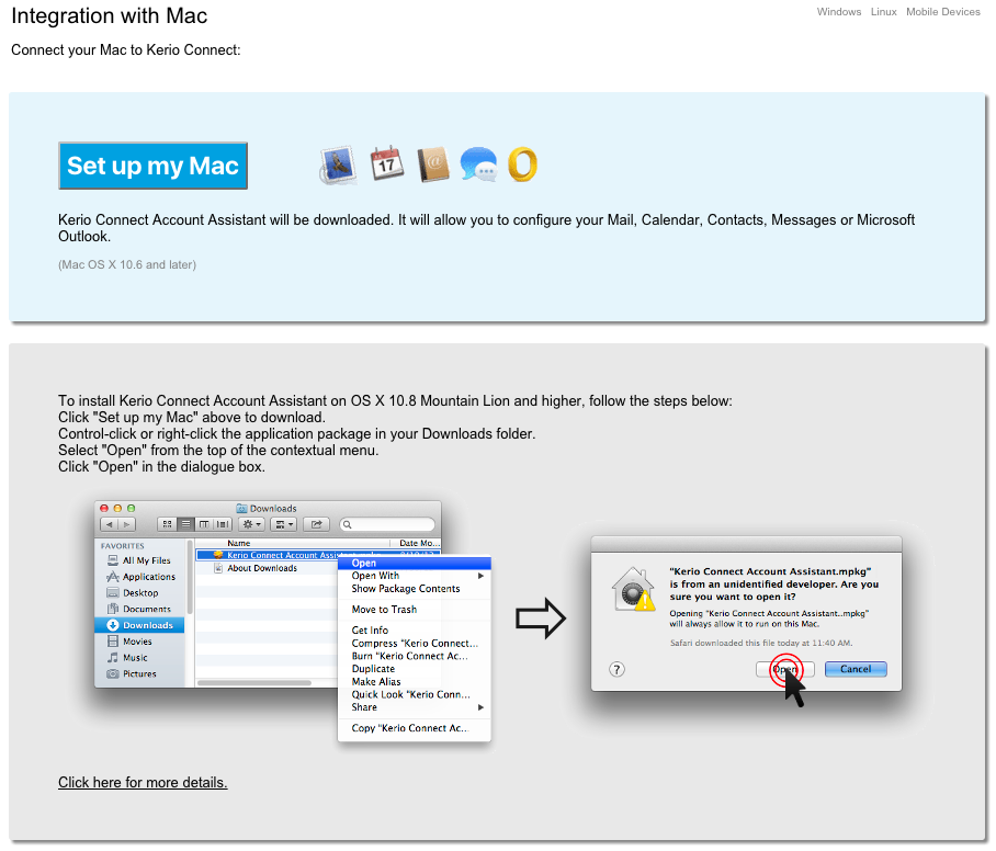 Apple Mail & Microsoft Outlook for Mac OS - vBoxx